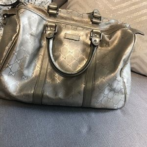 Authentic GUCCI Silver Large Purse